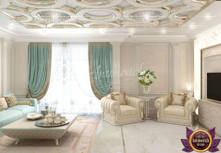   Interior design majlis of Katrina Antonovich :  Living room by Luxury Antonovich Design