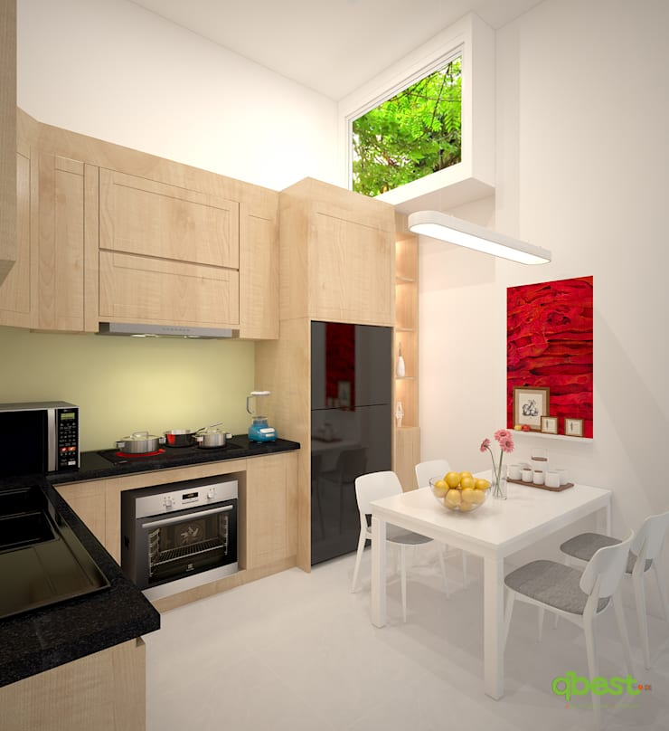 Bếp và phòng ăn:  Bedroom by Công ty TNHH Thiết Kế và Ứng Dụng QBEST