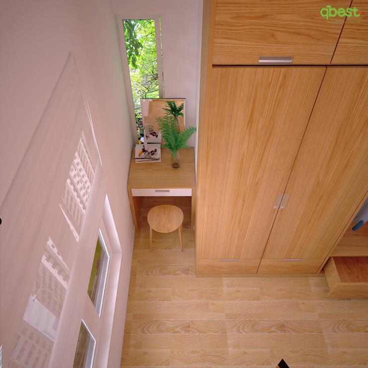 Phòng ngủ:  Bedroom by Công ty TNHH Thiết Kế và Ứng Dụng QBEST