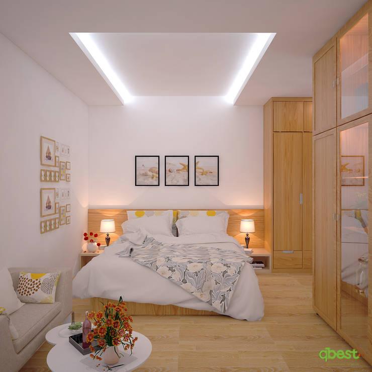 Phòng ngủ chính:  Bedroom by Công ty TNHH Thiết Kế và Ứng Dụng QBEST