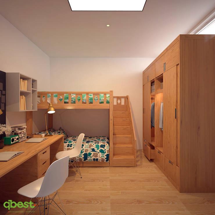 Phòng ngủ trẻ em:  Bedroom by Công ty TNHH Thiết Kế và Ứng Dụng QBEST