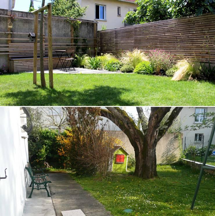 Avant / Après Jardin moderne par Constans Paysage Moderne