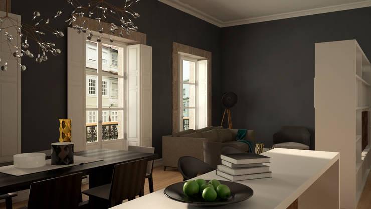 Remodelação de Apartamento Mouzinho Porto:   por PROJETARQ