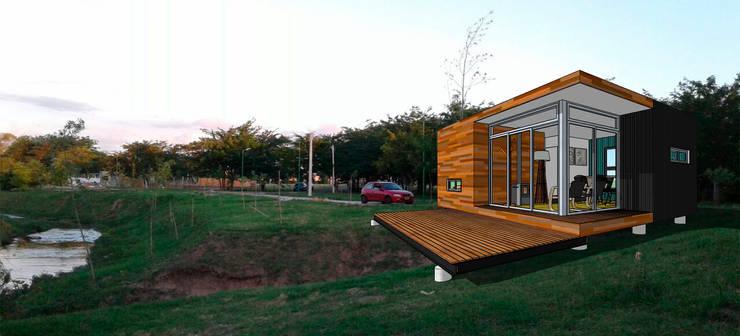 Viv. container: Casas de estilo  por CAB Arquitectura ccab.arquitectura@gmail.com