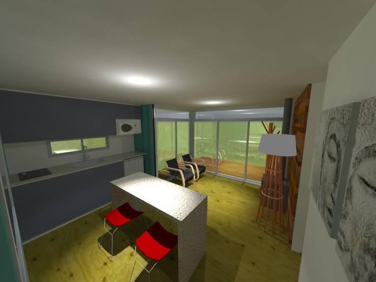 Viv. container: Cocinas de estilo  por CAB Arquitectura ccab.arquitectura@gmail.com