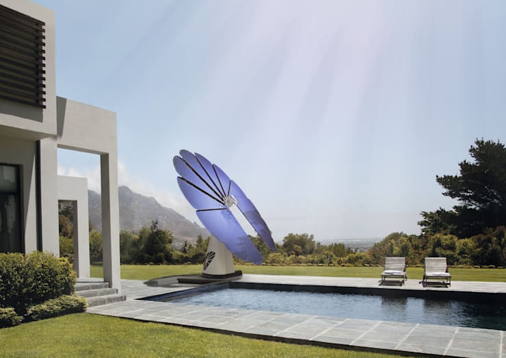 "Smartflower - O primeiro sistema de energia solar ""all in one"" do Mundo: Jardins  por Magnific Home Lda"
