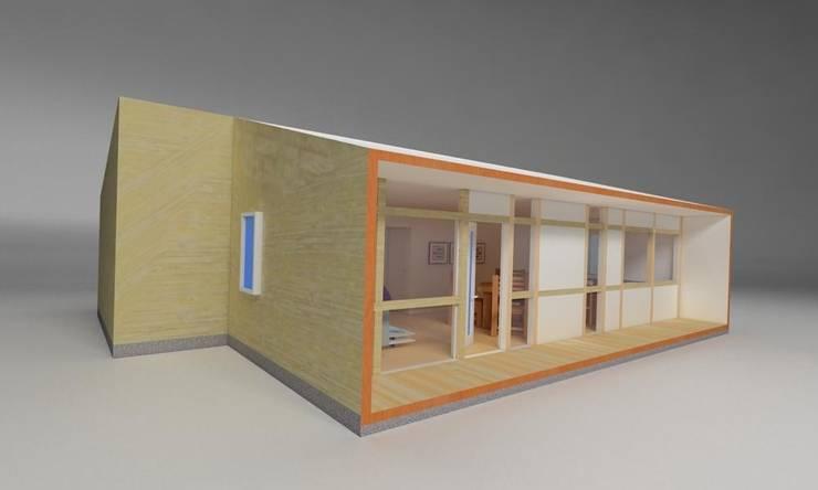 Vivienda Modular 2R: Casas de estilo  por Super A Studio