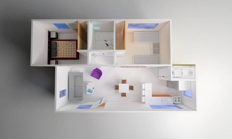 Vivienda Modular 2R:  de estilo  por Super A Studio