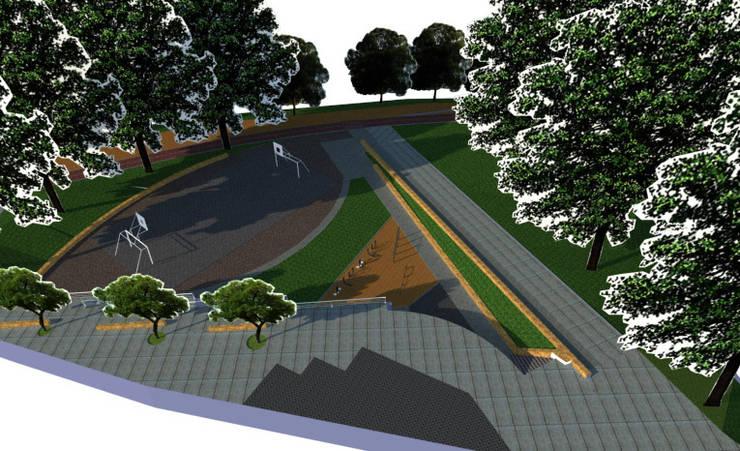 Diseño Parque Balcón Quinta Normal Santiago:  de estilo  por Super A Studio