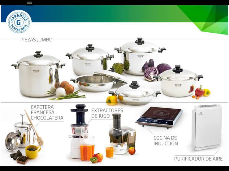 Productos con garantía vitalicia que promueven un estilo de vida saludable; calidad y elegancia para su cocina de Rena Ware de Colombia Moderno Hierro/Acero