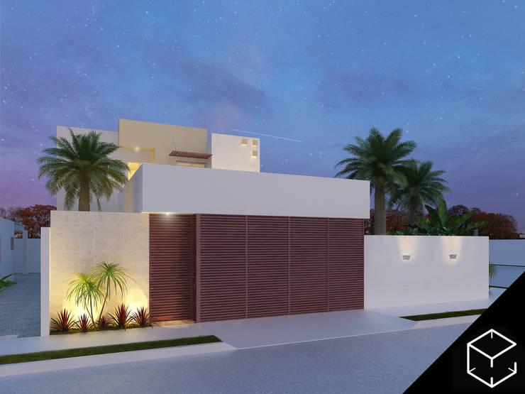 Casas de estilo  por Proyéctica Arquitectos