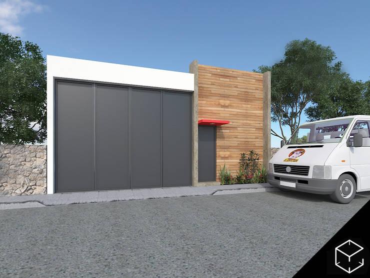 Bodegas El Competidor: Casas de estilo moderno por Proyéctica Arquitectos