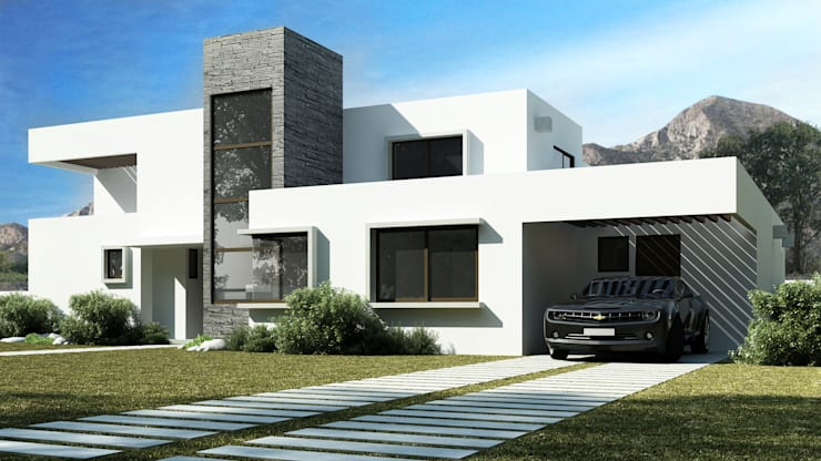 Casa Grilli: Casas de estilo  por AOG SPA