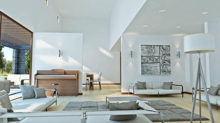 Casa Grilli: Livings de estilo  por AOG SPA
