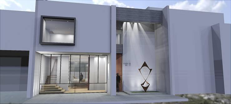 Fachada principal: Casas de estilo  por SG Arquitectos