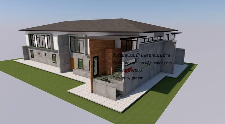 บ้านปูนเปลือย:  บ้านและที่อยู่อาศัย by รับเขียนแบบบ้าน&ออกแบบบ้าน