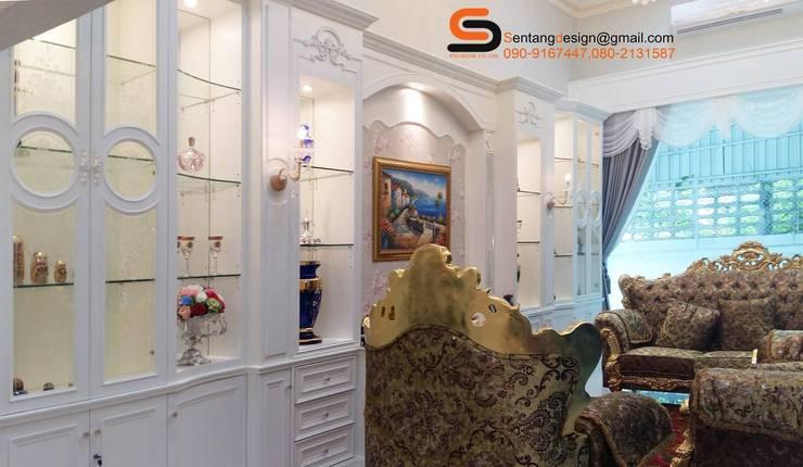 ห้องรับแขกบ้านคุณพูนศัก นครปฐม เริ่มตั้งแต่ออกแบบจนกระทั้งรับเหมาตกแต่งจนเสร็จ:   by เอสทีดี เดคคอร์ จำกัด