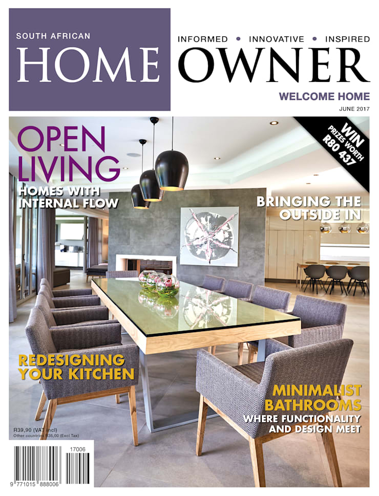 Cover SA Homeowner June 2017 Issue:  Living room by Carne Interiors