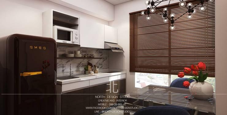 คุณองุ่น คอนโด 1 ห้องนอน:   by เหนือ ดีไซน์ สตูดิโอ (North Design Studio)