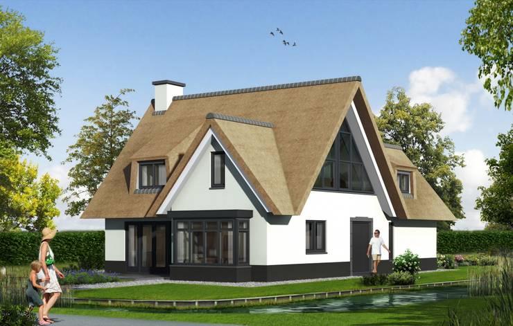 Landelijk moderne woning:  Huizen door Brand BBA I BBA Architecten, Landelijk
