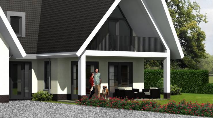 Landelijk moderne woning Hendrik-Ido-Ambacht:  Huizen door Brand BBA I BBA Architecten, Landelijk