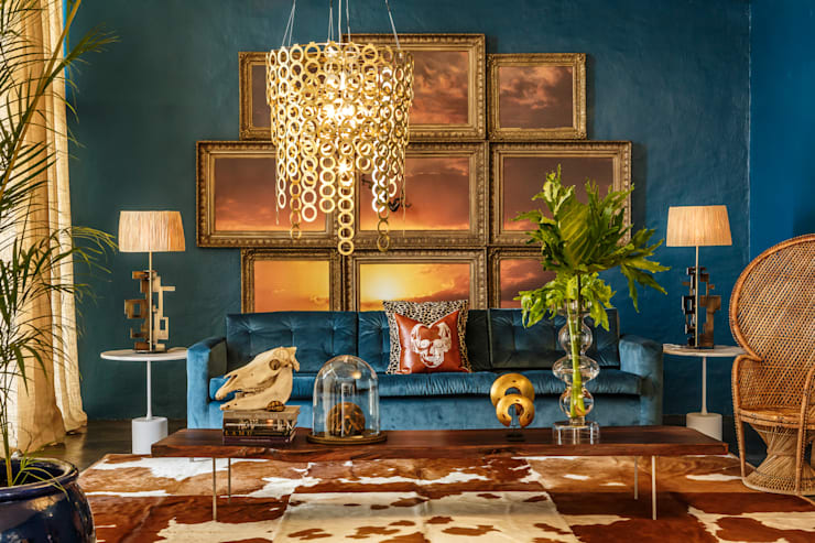 Interior spaces:  Living room by Egg Designs CC, Modern Copper/Bronze/Brass