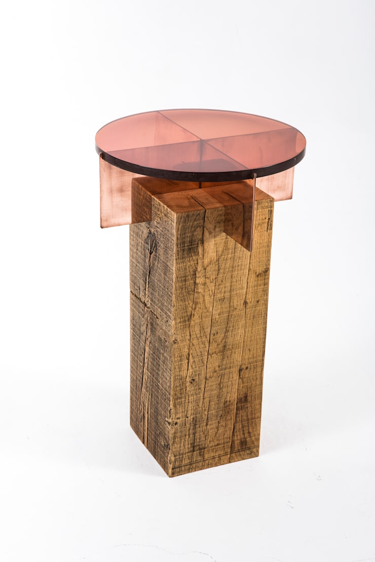 Jewel side table: modern  by Egg Designs CC, Modern Wood Wood effect