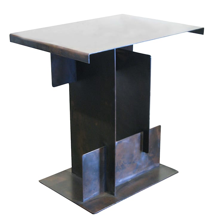 Puzzle side table: modern  by Egg Designs CC, Modern Copper/Bronze/Brass