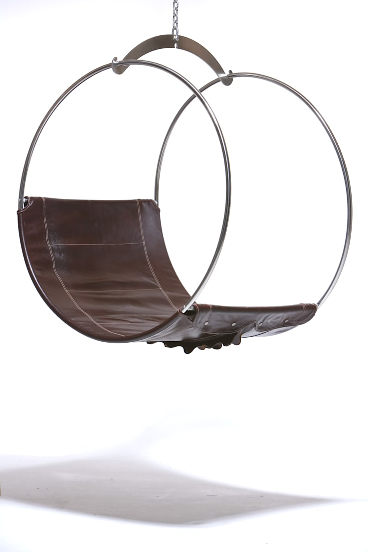 leather swing chair:  Living room by Egg Designs CC