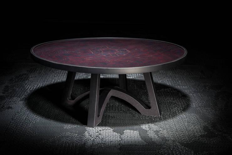 Salontafel Café 6116: modern  door Ruben van Megen, Modern Bont Wit