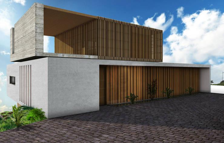 Casa Miravalle Buga: Casas de estilo  por COLECTIVO CREATIVO