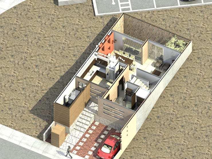 ACACIA 10: Casas de estilo moderno por Protocolo Ingeniería & Arquitectura