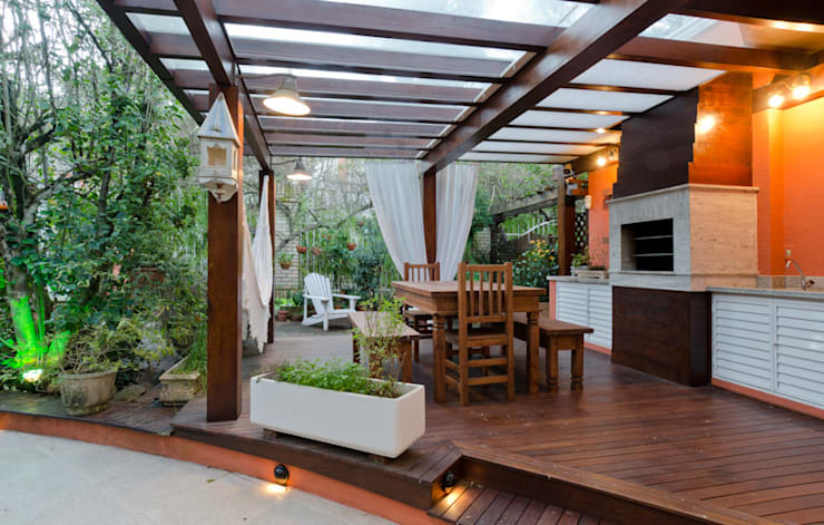 Jardines de estilo  por Milena Decker Arquiteura