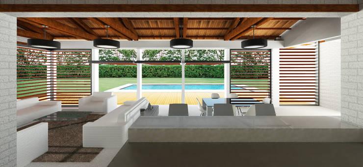 Casa Ginebra JPO Piscinas de estilo moderno de COLECTIVO CREATIVO Moderno Madera Acabado en madera