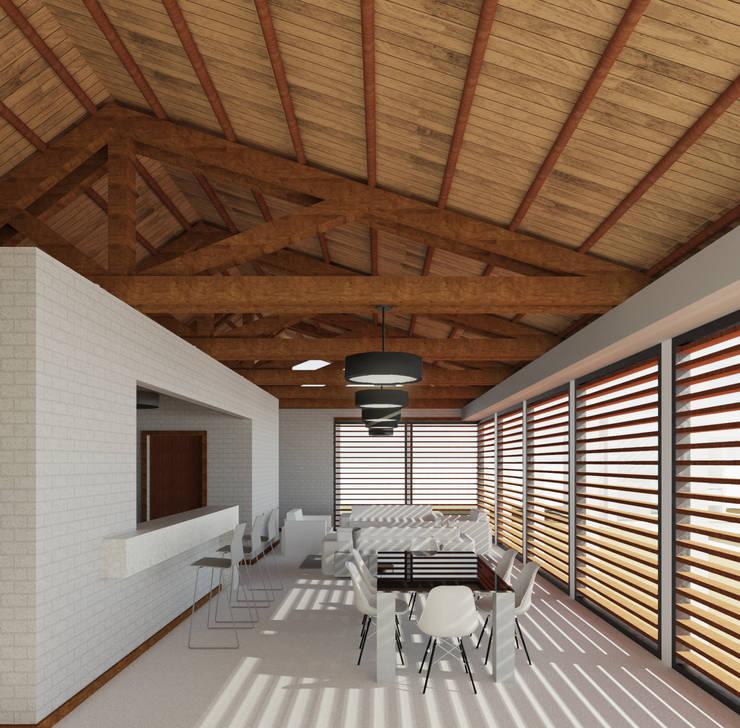 Casa Ginebra JPO Salas modernas de COLECTIVO CREATIVO Moderno Madera Acabado en madera