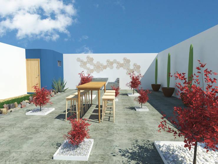 Casas de estilo  de 21 Arquitectura, Moderno