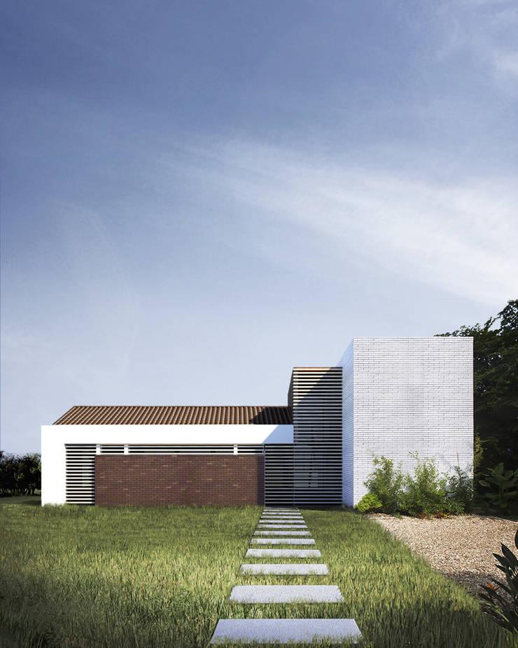 Casa Ginebra JPO Casas modernas de COLECTIVO CREATIVO Moderno Madera Acabado en madera