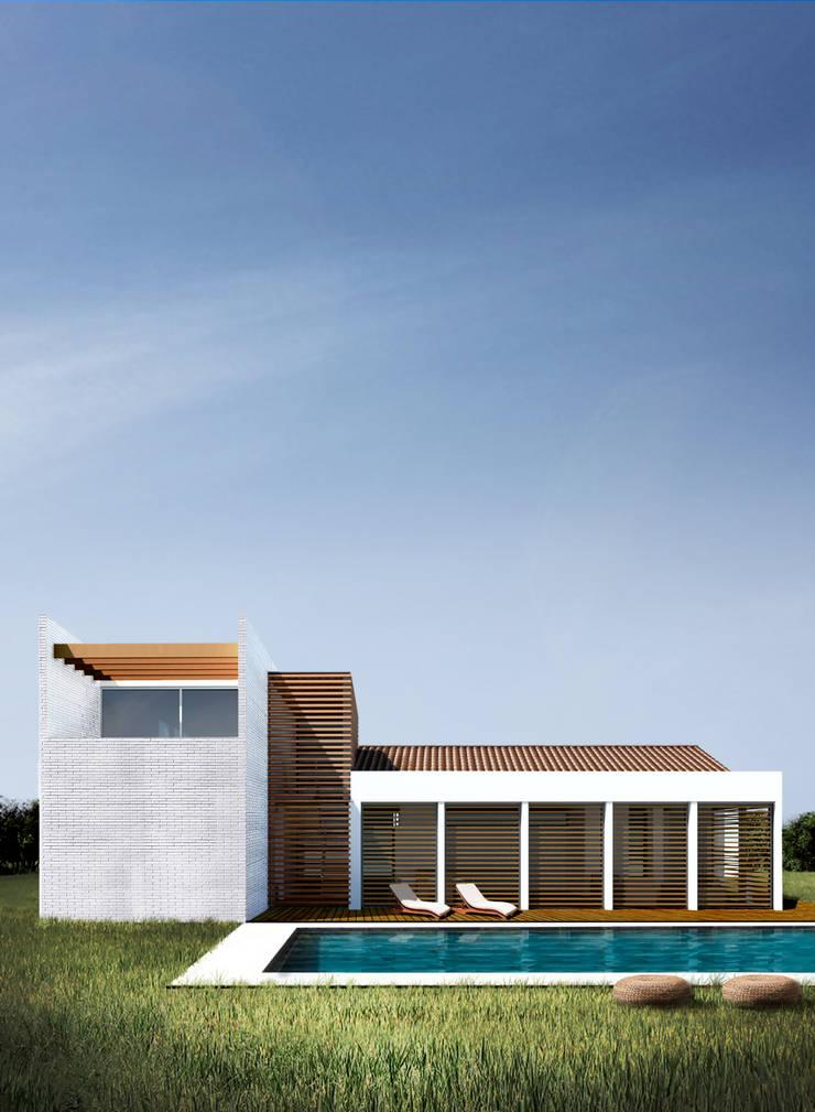 Casa Ginebra JPO: Casas de estilo moderno por COLECTIVO CREATIVO