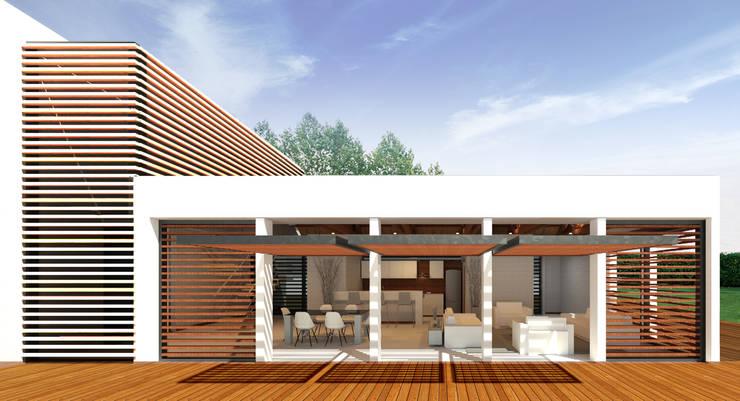 Casa Ginebra JPO Piscinas de estilo moderno de COLECTIVO CREATIVO Moderno Ladrillos