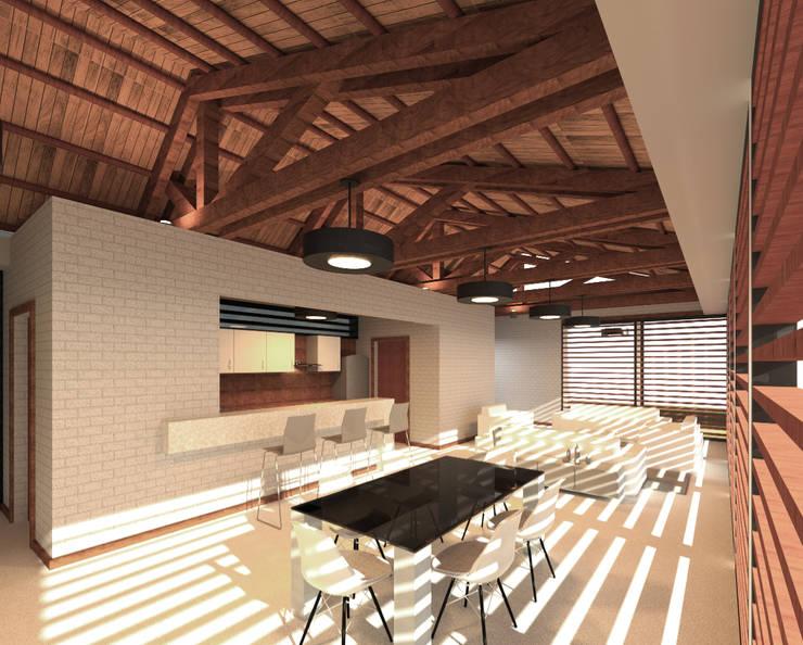 Casa Ginebra JPO Comedores de estilo moderno de COLECTIVO CREATIVO Moderno Madera Acabado en madera