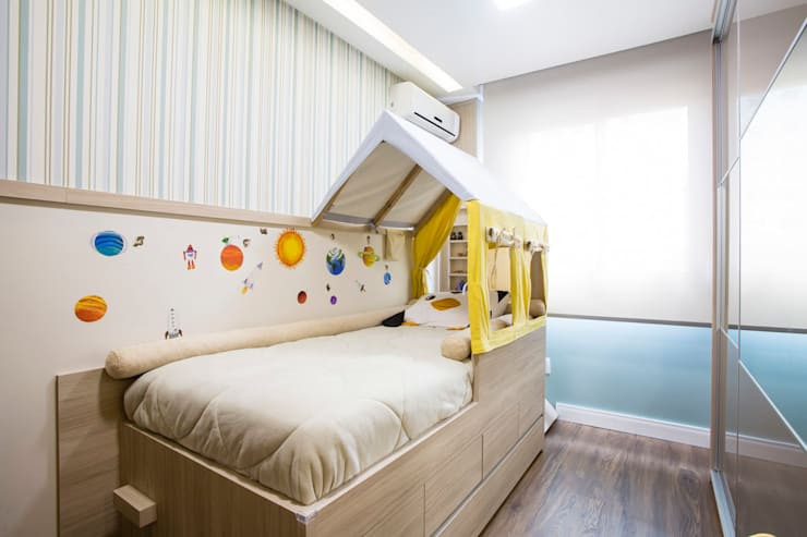 Chambre d'enfant rustique par Join Arquitetura e Interiores Rustique