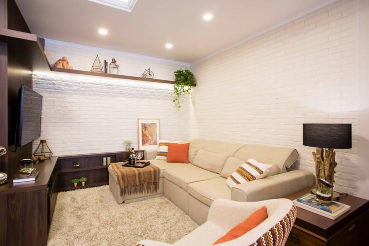 Salon rustique par Join Arquitetura e Interiores Rustique