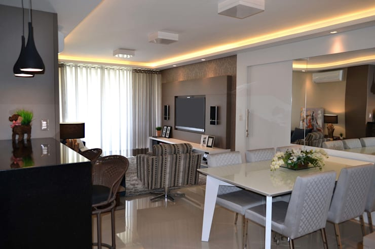 Гостиная в . Автор – Join Arquitetura e Interiores, Модерн