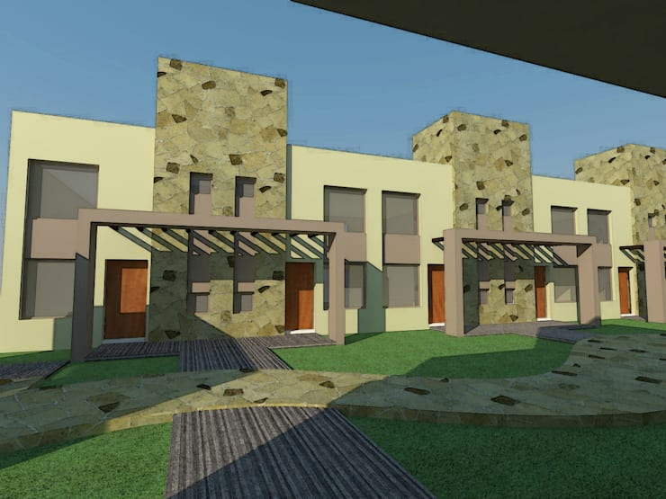 Complejo de Departamentos, Duplex & Salones Comerciales: Casas de estilo  por Arq. Leticia Gobbi & asociados