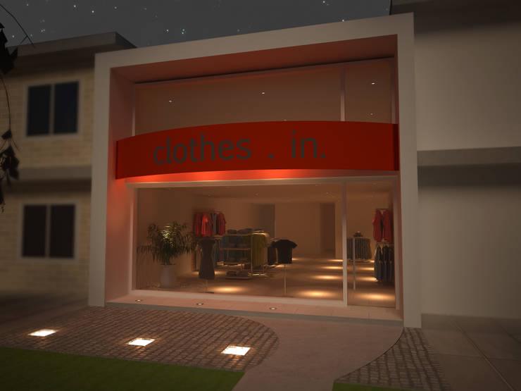 Salon Comercial:  de estilo  por Arq. Leticia Gobbi & asociados,