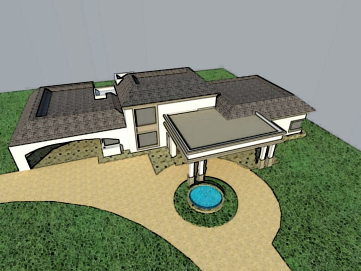 VIVIENDA RESIDENCIAL: Casas de estilo  por Arq. Leticia Gobbi & asociados,