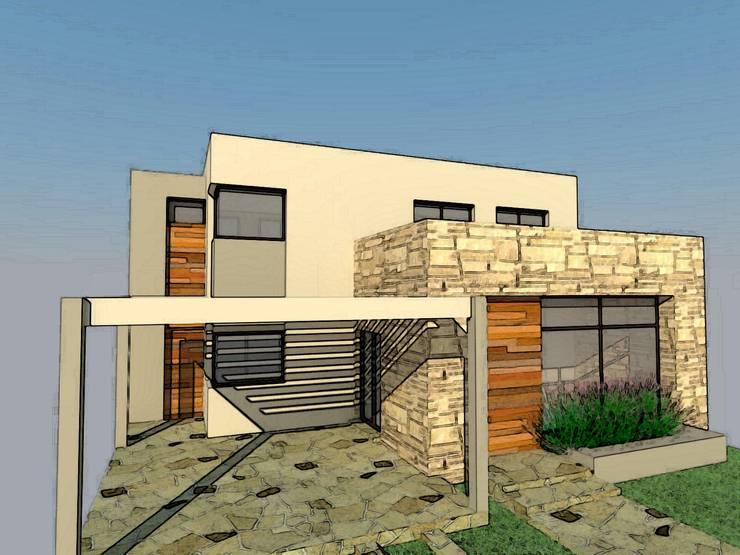 VIVIENDA FAMILIAR: Casas de estilo  por Arq. Leticia Gobbi & asociados,