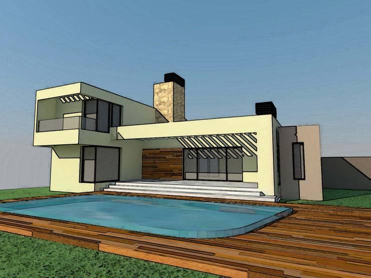 VIVIENDA UNIFAMILIAR: Casas de estilo  por Arq. Leticia Gobbi & asociados,