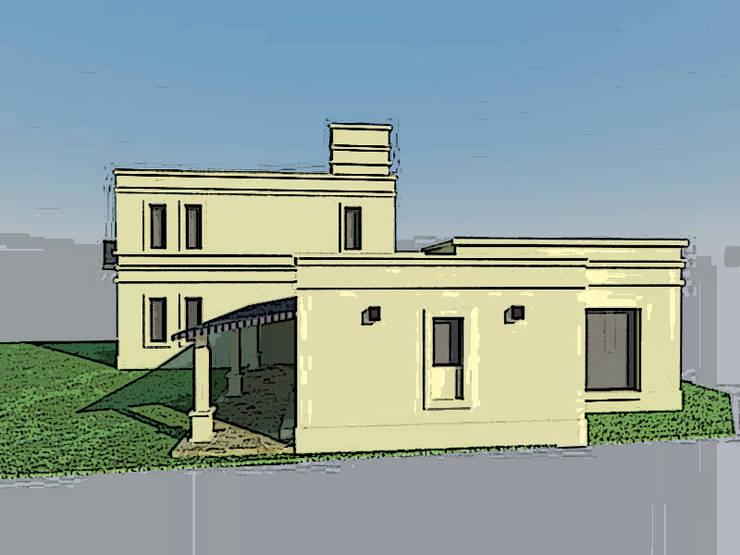 VIVIENDA FAMILIAR: Casas de estilo  por Arq. Leticia Gobbi & asociados