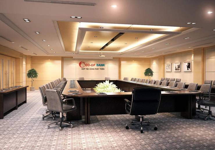 Thiết kế thi công nội thất văn phòng ngân Hàng Co-op Bank:  Living room by Nội Thất TNC